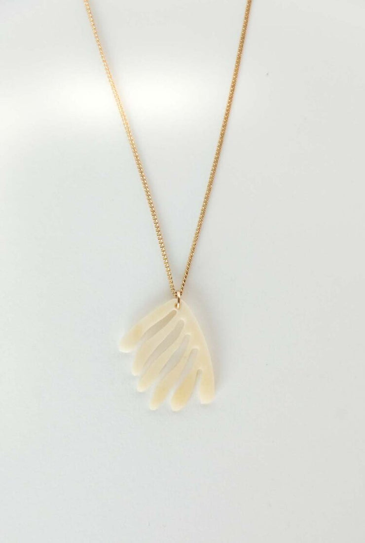 Coral Necklace - Bone