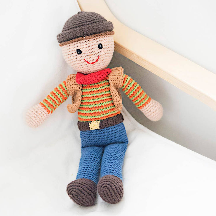 Hand Knitted Cowboy