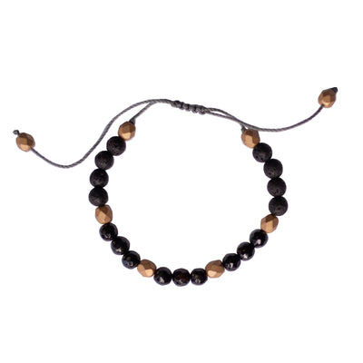 Gemstone Diffuser Bracelet - Black Onyx (Strength)
