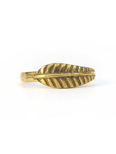 Feather Ring - Gold