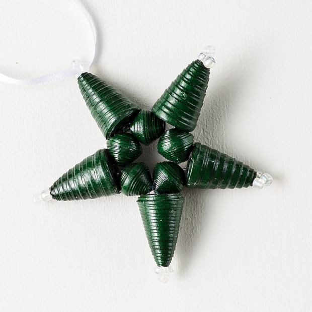 Star Ornament- Green - Mango + Main