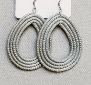Woven Loop Earrings- Ice Blue - Mango + Main