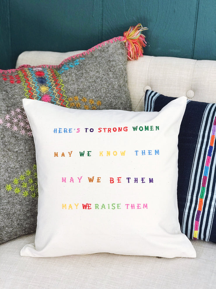 Embroidered Pillow Cover - Women