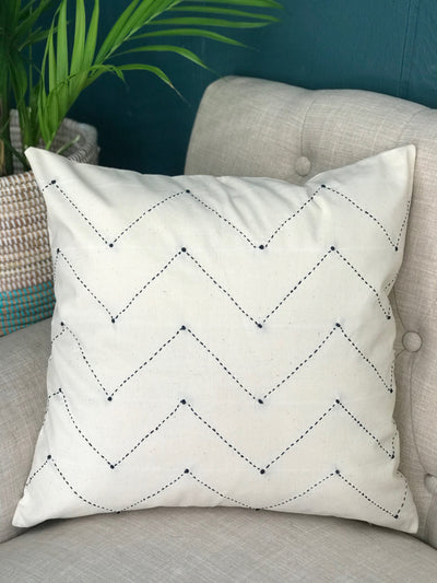 Chevron Pillow Cover - Cream