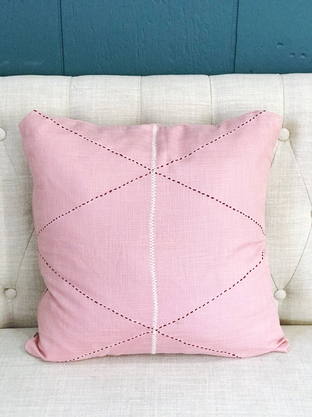 Criss Cross Pillow Cover - Pink