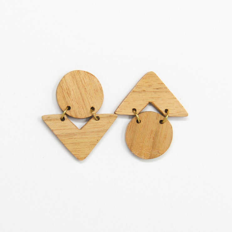 Mango Wood Reverse Earrings