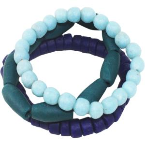 Manye Stacking Bracelets - Teal