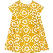Girls Swing Dress - Chroma Mustard