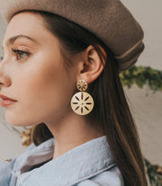 Petal Coin Earrings