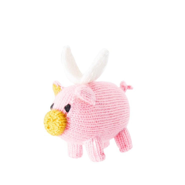 Knitted Flying Pig Ornament