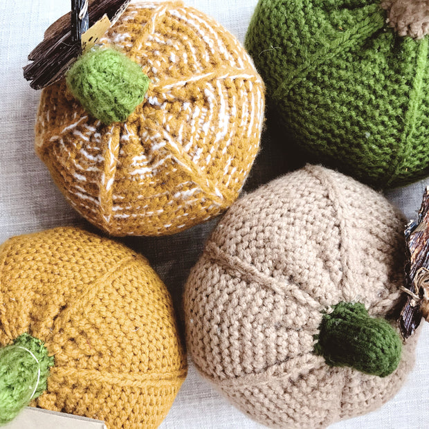 Knitted Pumpkin - Mango + Main