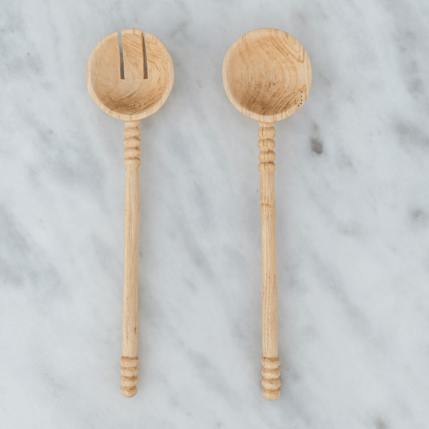 Hand-Carved Wooden Serving Spoons