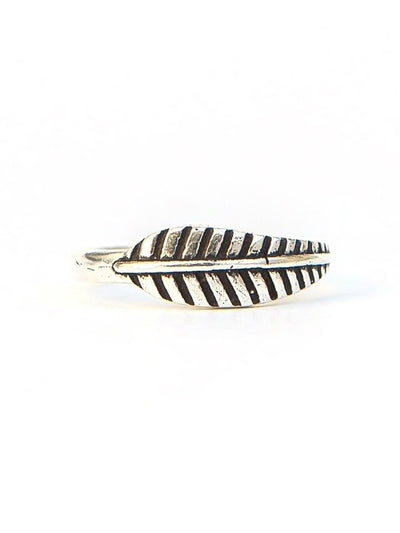 Feather Ring - Silver