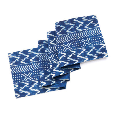 Geo Stripe Dabu Table Runner