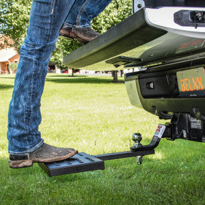 Spin Step Hitch Ball Mount and Tailgate Step