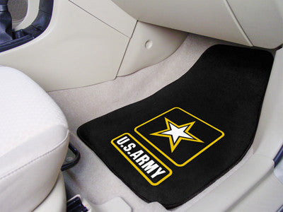 Patriotic Heavy Duty 2-Piece Vinyl Floor Mats - Choose your Logo