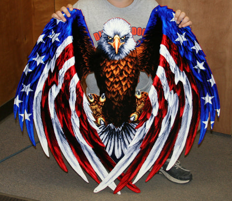 Freedom Eagle Metal Sign
