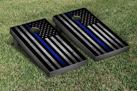 Police Themed American Flag Cornhole Game Set