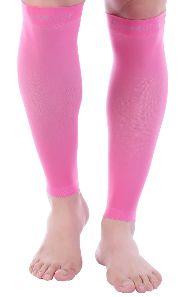 Premium Calf Compression Sleeve 15-20 mmHg PINK by Doc Miller