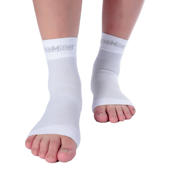 Medical Grade Compression Foot Sleeves WHITE