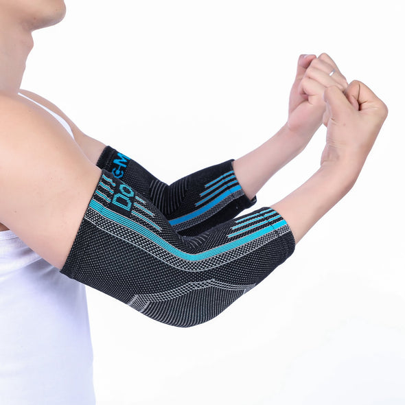 Elbow Compression Sleeve - Black and Blue