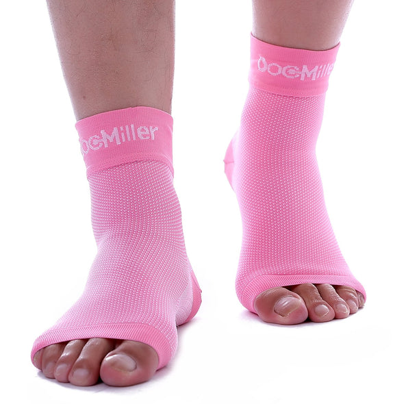 Medical Grade Compression Foot Sleeves PINK