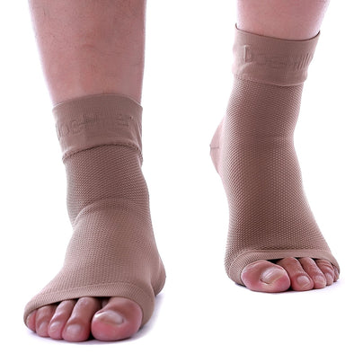 Medical Grade Compression Foot Sleeves TAN SKIN
