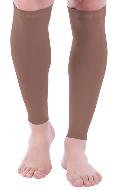 Calf Compression Sleeve 20-30 mmHg Chocolate by Doc Miller