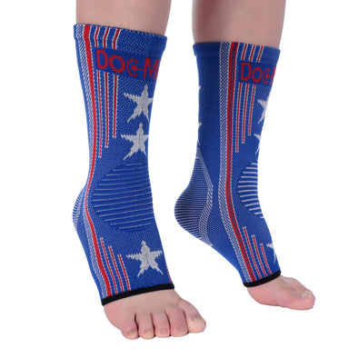 Ankle Brace Compression Sleeves for Foot Pain and Swelling with US Flag print