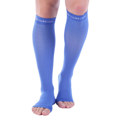 Open Toe Compression Sleeve 15-20 mmHg BLUE by Doc Miller