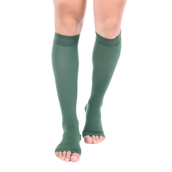 Open Toe Compression Sleeve 15-20 mmHg DARK GREEN by Doc Miller