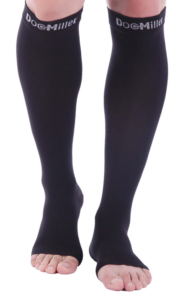 Open Toe Compression Sleeve 08-15 mmHg BLACK by Doc Miller