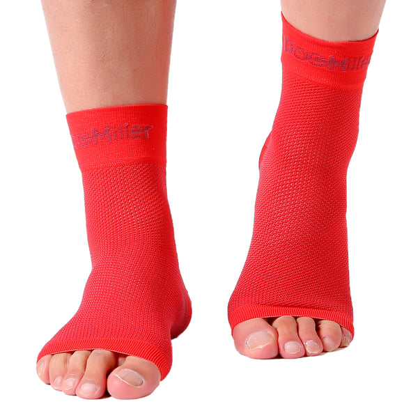Medical Grade Compression Foot Sleeves RED