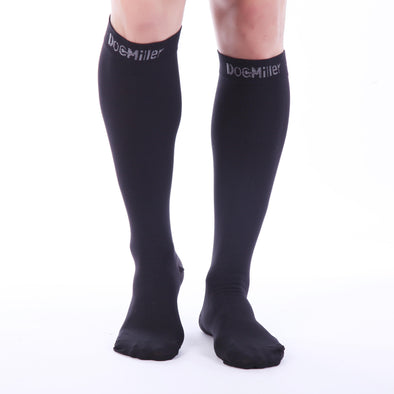 Closed Toe Compression Socks 20-30 mmHg Black