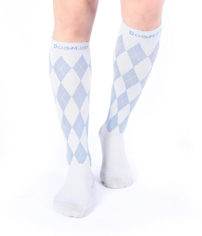 Closed Toe Compression Socks 20-30 mmHg GRAY/BLUE