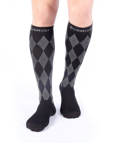 Closed Toe Compression Socks 20-30 mmHg Argyle
