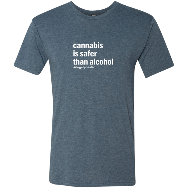 Cannabis is Safer Than Alcohol  Tri-Blend Tee