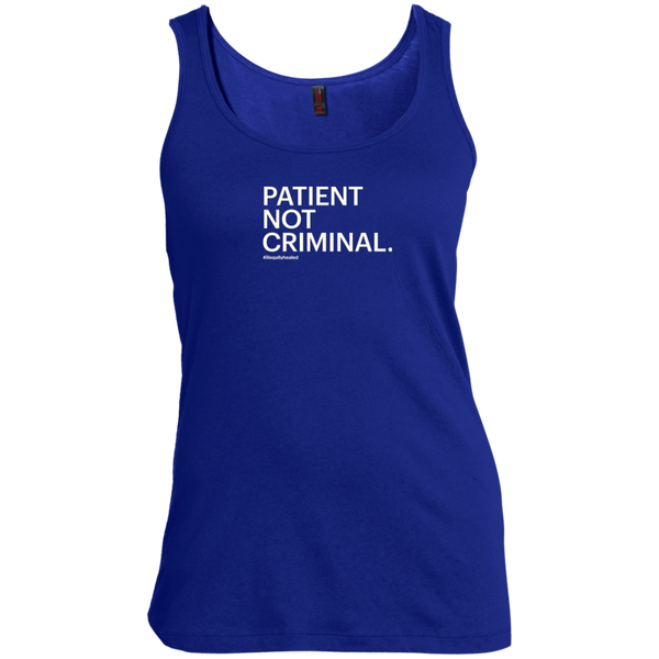 Patient Not Criminal Women's Scoop Neck Tank Top