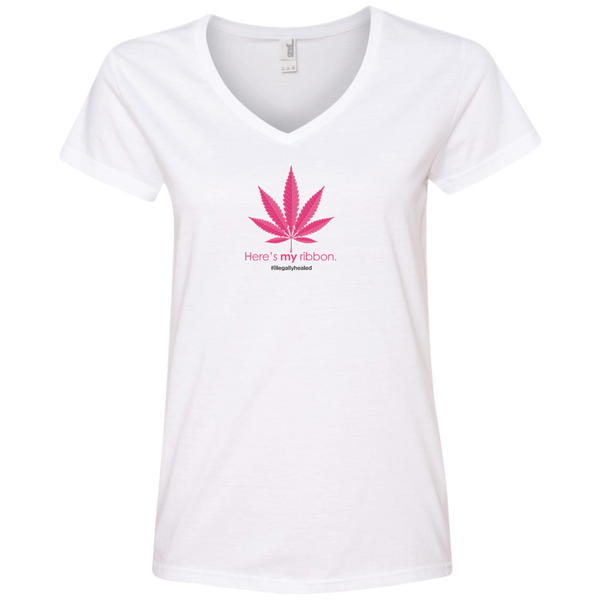 My Ribbon Limited Edition Ladies' V-Neck Tee