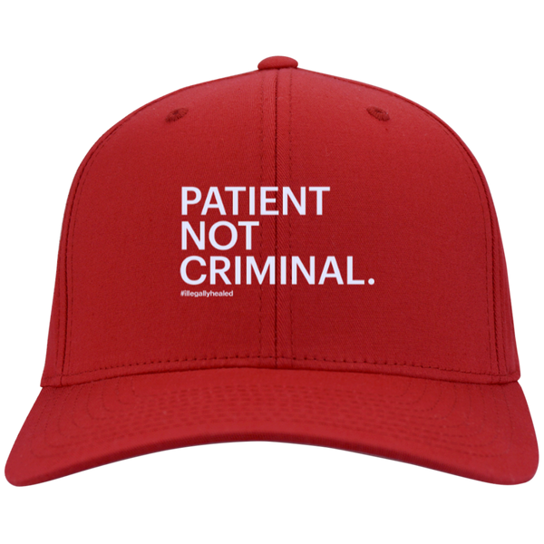 Patient Not Criminal Twill Cap
