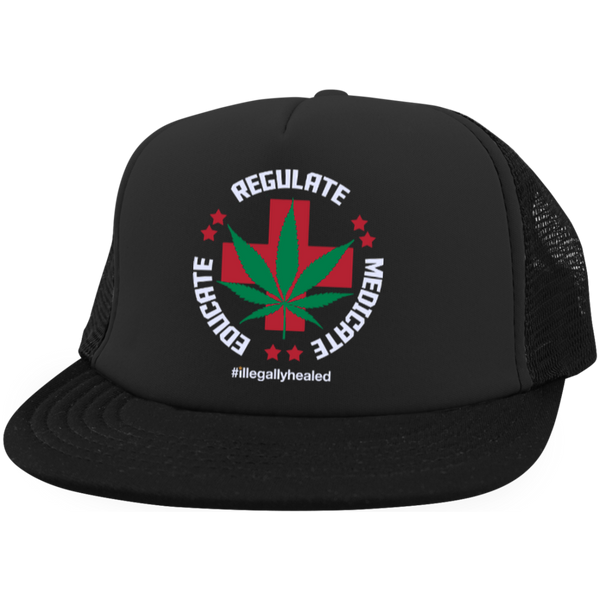 Educate Regulate Medicate Trucker Hat with Snapback