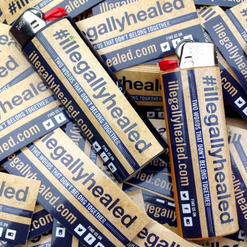 Illegally Healed Hashtag Sticker (10 pack)