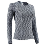 Nooz Women's Dry Fit Athletic Compression Long Sleeve Shirt, compression