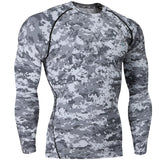 Men's Compression Baselayer Long Sleeve T Shirts, compression