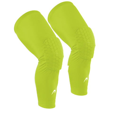 Nooz Compression Long Knee Sleeves w/ Honeycomb Padding
