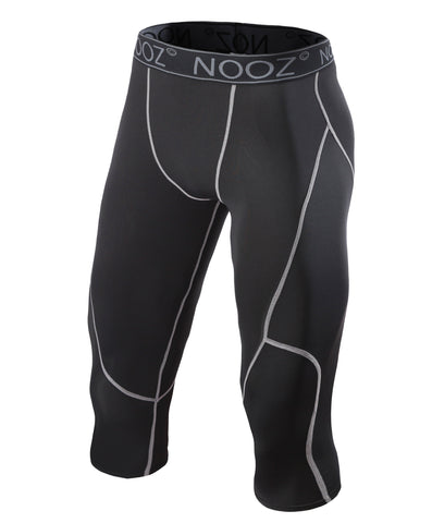 ff8efc13bd NOOZ Sportswear, Nooz Men's Pro Compression 3/4 Legging Tights, compression