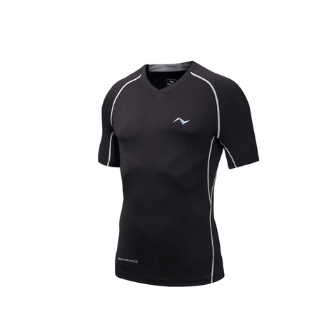 Men's Compression Short Sleeve V-Neck T-Shirt, compression
