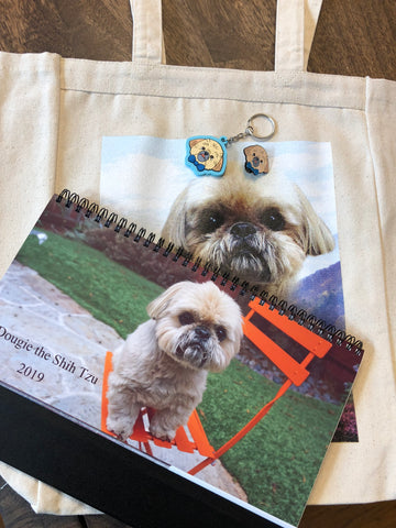 "2019 ""The Works"" Bundle (Calendar, Tote Bag, Pin, Keychain)"