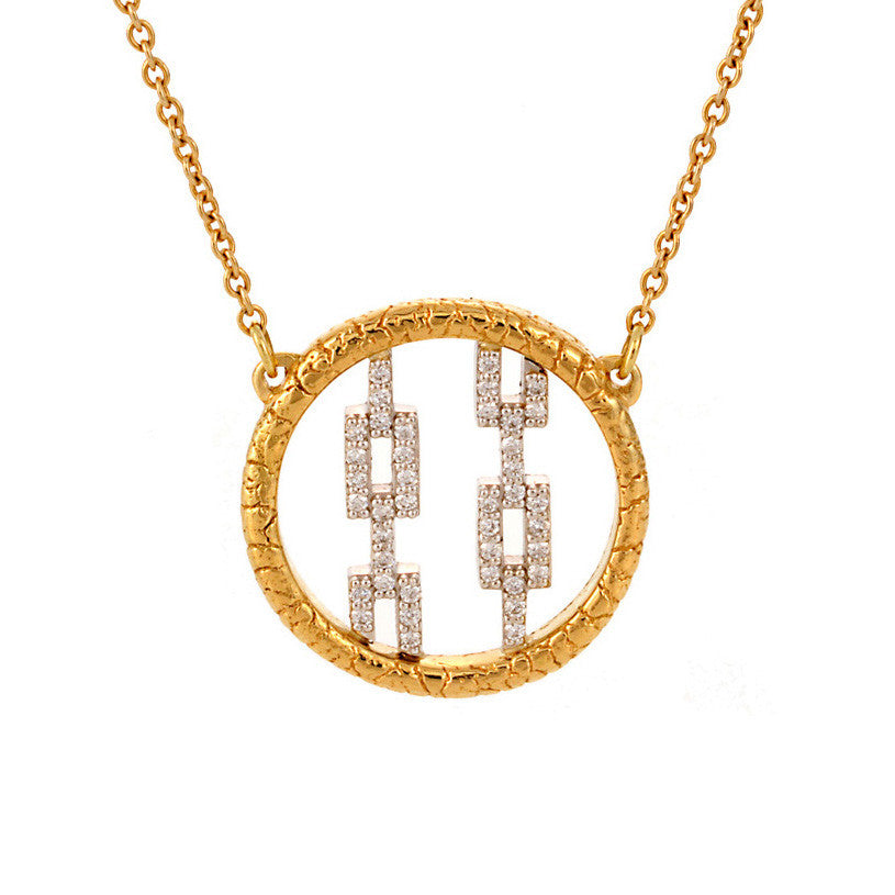 Pavé Hicks Wrapped in Primordial Necklace