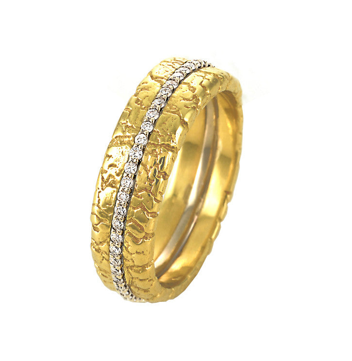 Diamond Pave Band in Yellow Gold
